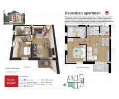 Apartman 35,22m2 - blizu centra